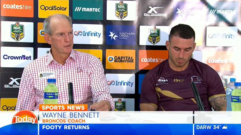 Wayne Bennett shows reporter no mercy at press conference