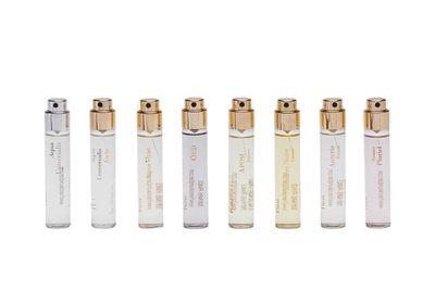 "<a href=""https://www.theline.com/shop/product/fragrance_wardrobe_for_her"" target=""_blank"">Fragrance Wardrobe for Her, $254 approx, Maison FrancisKurkdjian</a>"