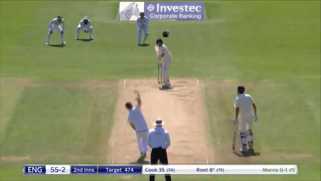 Joe Root is dismissed as England crash to huge defeat