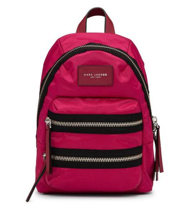 "<a href=""http://shop.davidjones.com.au/djs/en/davidjones/nylon-biker-mini-backpack-5466-302781--1"" target=""_blank"">Marc Jacobs Nylon Mini Backpack, $299.</a>"