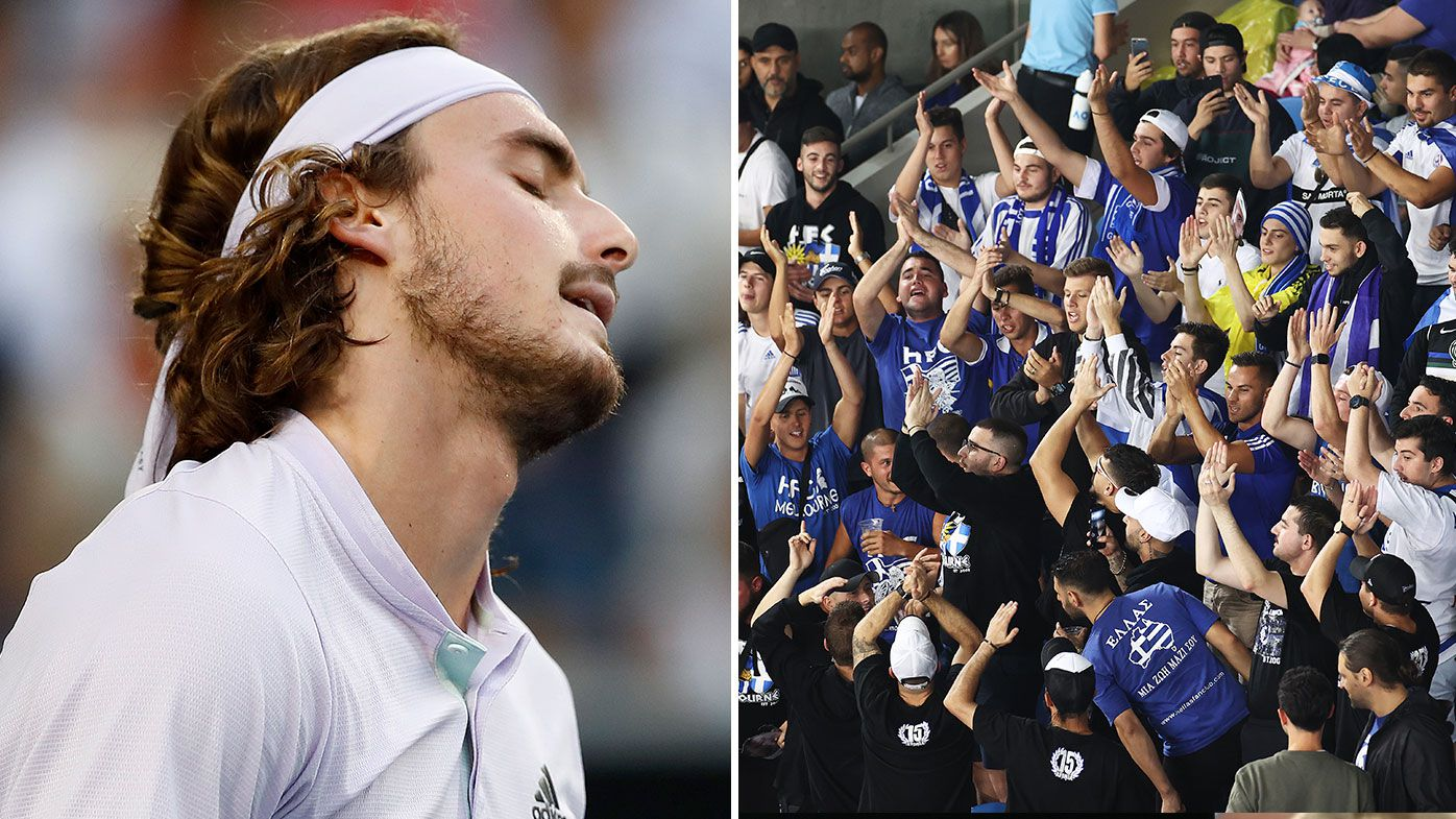 Chair umpire calls for security to stop Stefanos Tsitsipas fans