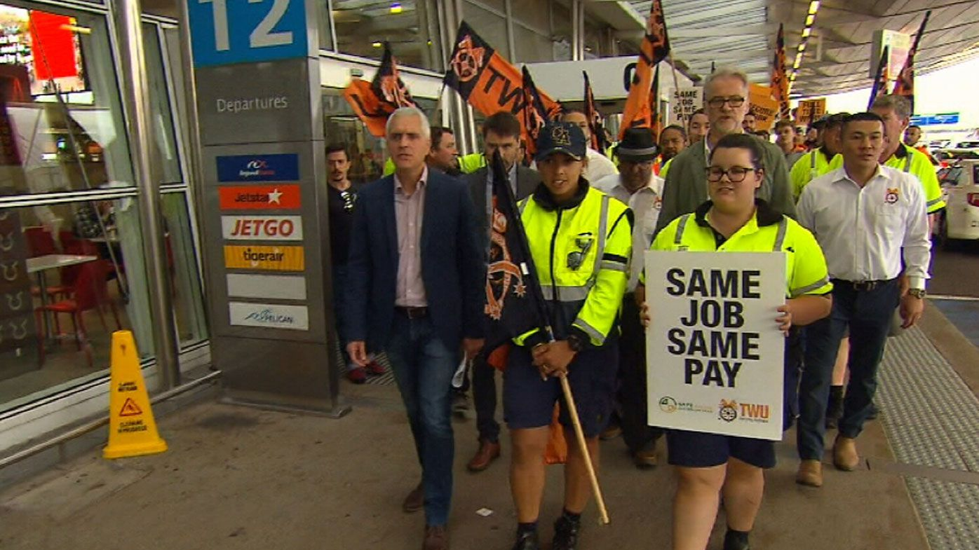 Jetstar workers hold all-day strike, flights axed