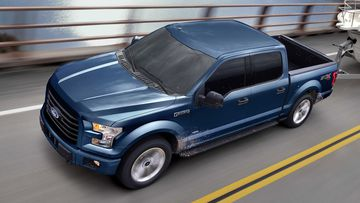 The father was struck and killed by a 2017 Ford F-150 ute like this one.