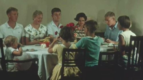 Does your dinner table look like this? Picture: State Library of Queensland Reel Rescue