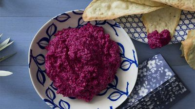 "Recipe: <a href=""http://kitchen.nine.com.au/2017/08/09/12/59/beetroot-parmesan-and-cashew-dip"" target=""_top"">Easy beetroot, Parmesan and cashew dip</a>"