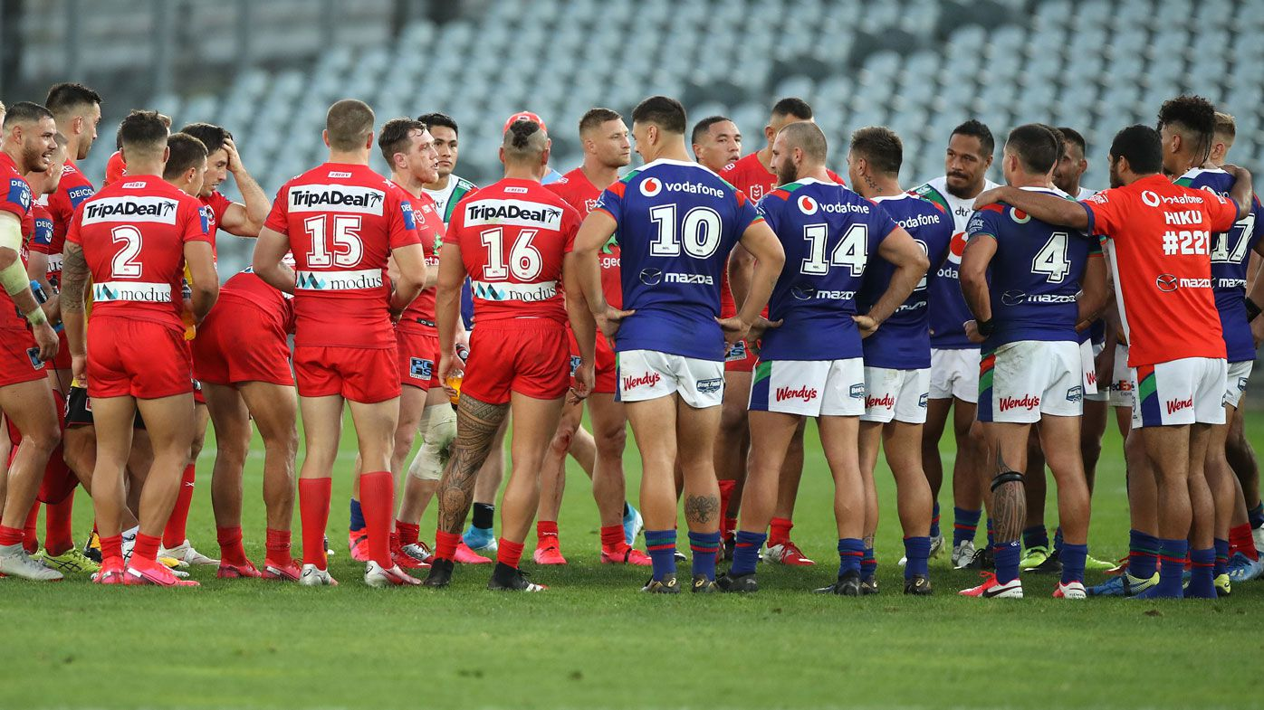 Warriors coach hails goodwill of NRL clubs after Dragons give thanks post-match