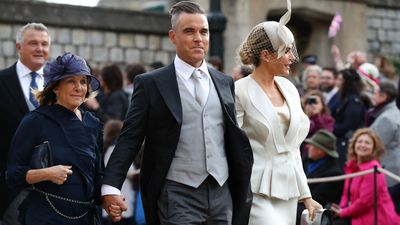 Robbie Williams accompanies his mother-in-law to Princess Eugenie's wedding