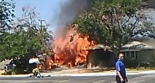The earthquake in California has sparked fires.
