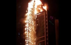 Residents evacuated after huge tower block fire in South Korea