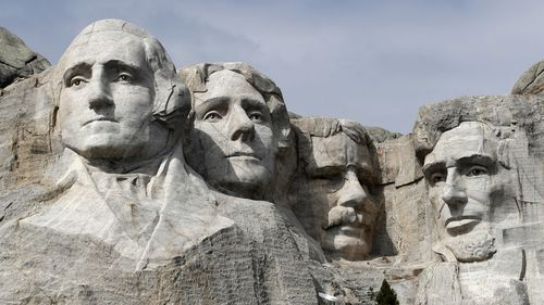 This March 22, 2019, file photo shows Mount Rushmore in Keystone, S.D