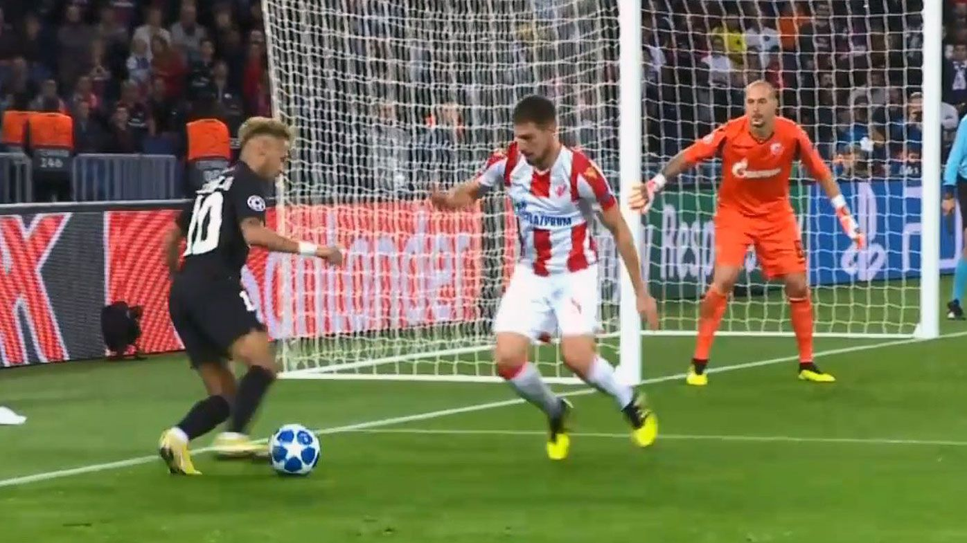 Football: Neymar destroys Socceroo Milos Degenek with savage nutmeg in Champions League spanking
