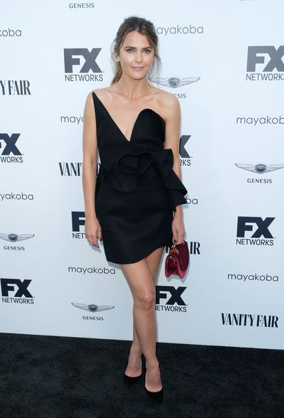 Keri Russell attends the FX And Vanity Fair Emmy Celebration at CRAFT LA. Russell is up for the 'Lead Actress in a Drama Series' award for her role in<em>The Americans.</em><br> <br>