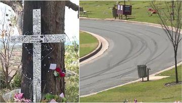 Hoons do burnouts at teenage car crash victim's funeral