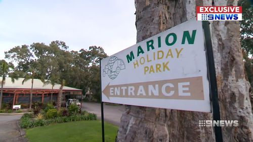 Marion Holiday Park manager Alan Rowett confirmed to 9News Hunter had been refused entry.