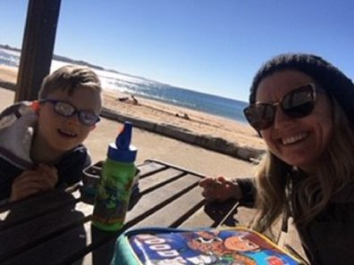 Natalie and Max having lunch