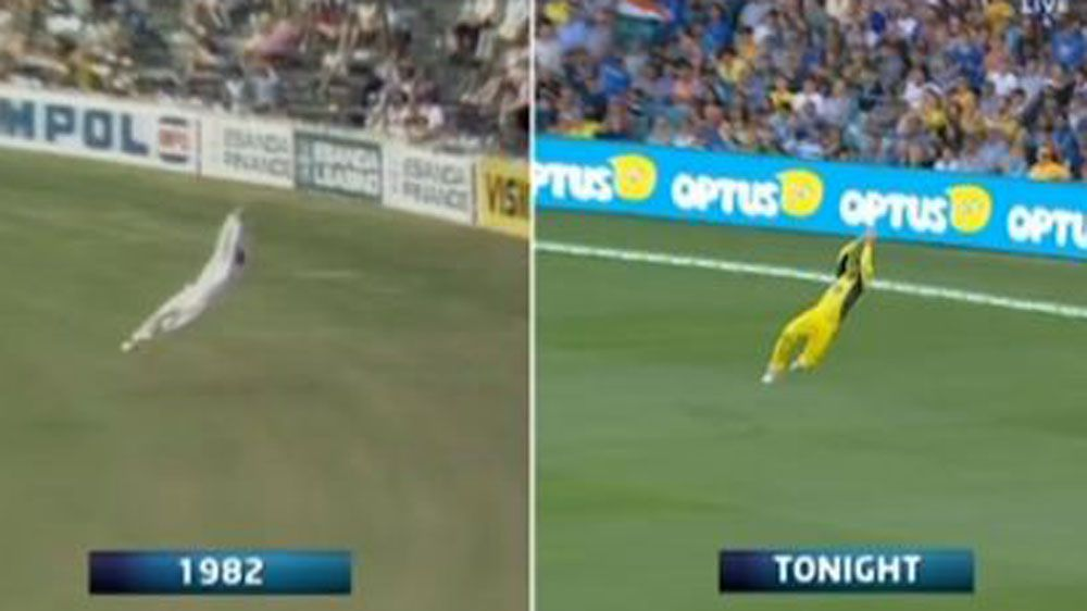 Marsh's spectacular catch compared to Dyson