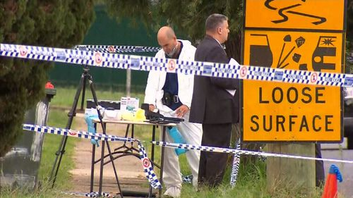 Homicide detectives established a crime scene at the home. (9NEWS)