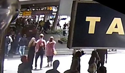 CCTV, mobile phone footage and dash-cam video recorded the moment pedestrians were struck.