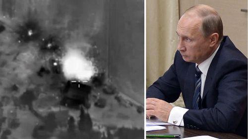 Vladimir Putin denies Russian airstrikes have killed Syrian civilians