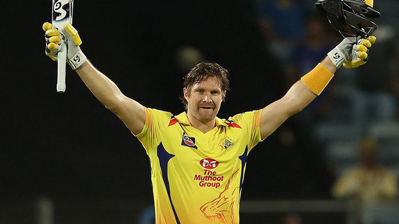 Shane Watson scores Indian Premier League century for Chennai Super Kings