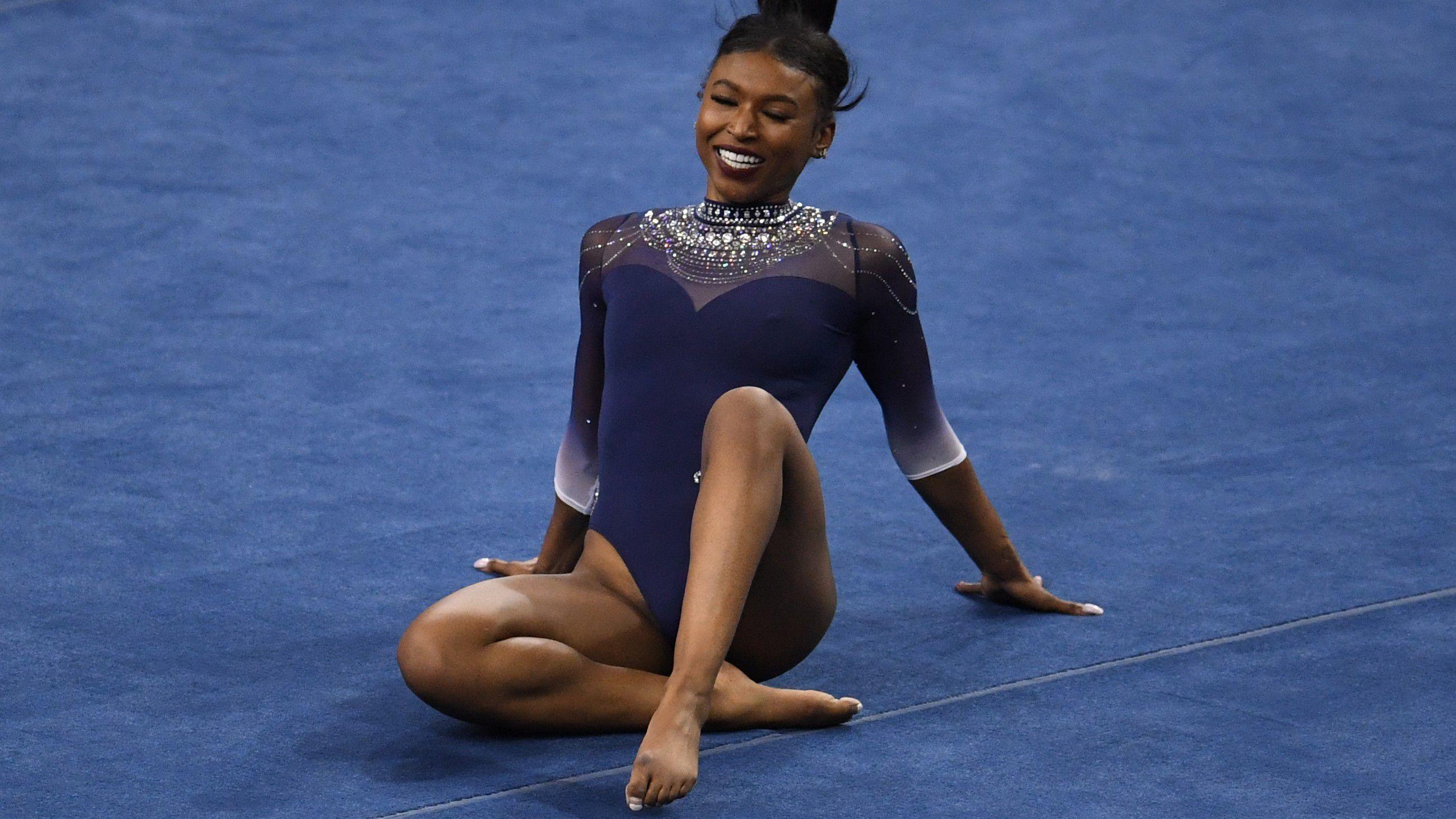 America loses it over college gymnastics phenomenon Nia Dennis' latest routine
