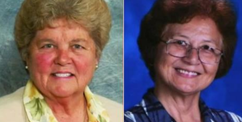 Sister Mary Margaret Kreuper (L) and Sister Lana Chang (R), are being investigated internally by St James Catholic School over alleged embezzling of funds for Vegas trips.