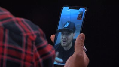 Michael Buble on Facetime during the Voice Blind Auditions