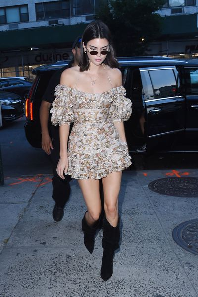 Kendall Jenner in New York in August, 2017