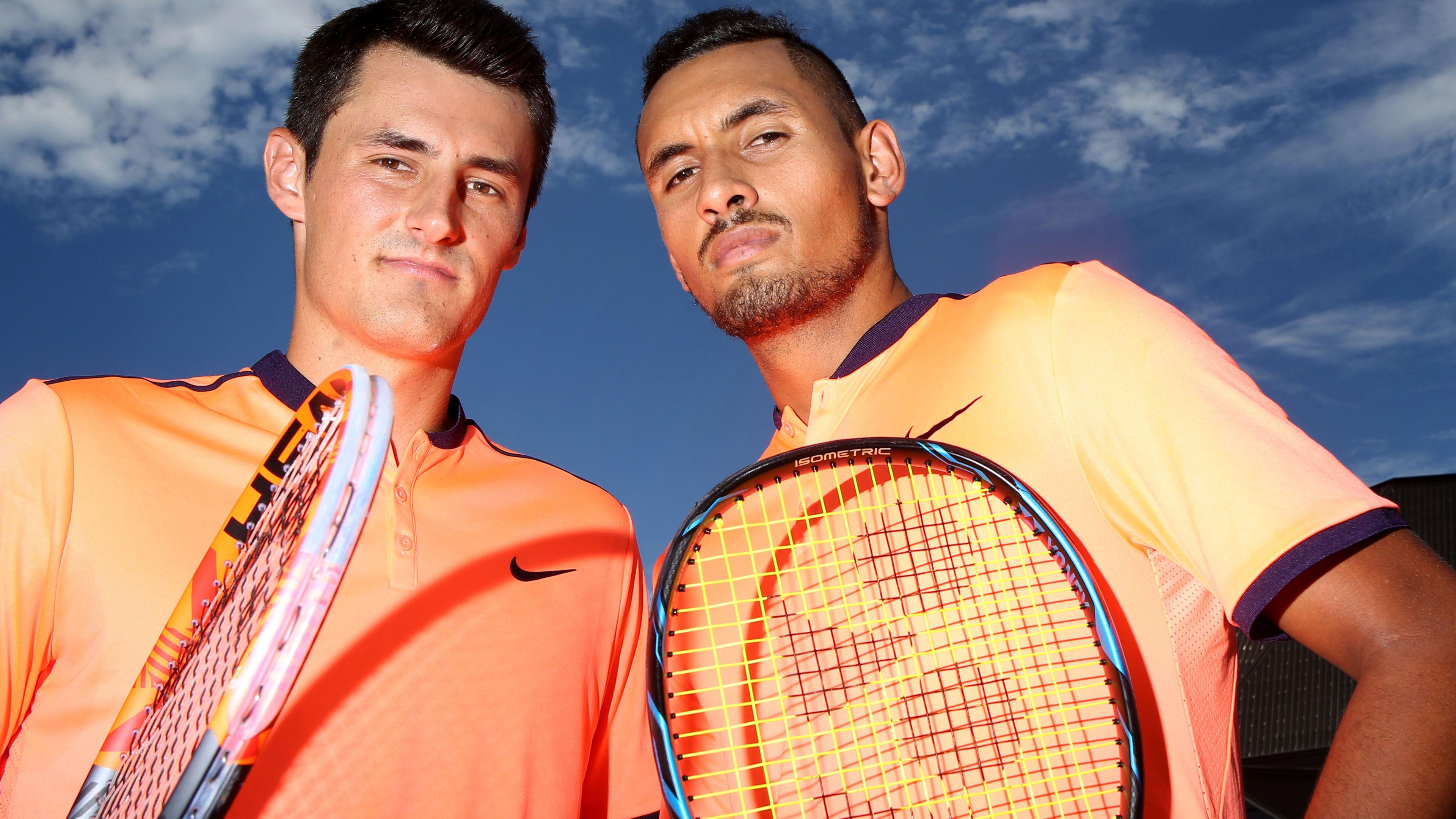 Controversial Australian tennis stars Nick Kyrgios, Bernard Tomic potentially set for salivating clash