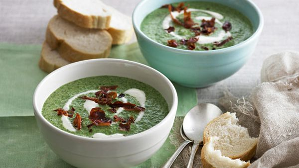 Creamy spinach soup for $8.40