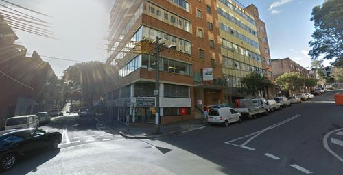 Pledger said he tailed Bird onto this street corner on Kippax Street, Surry Hills, when he saw the attack occur. Picture: Google.