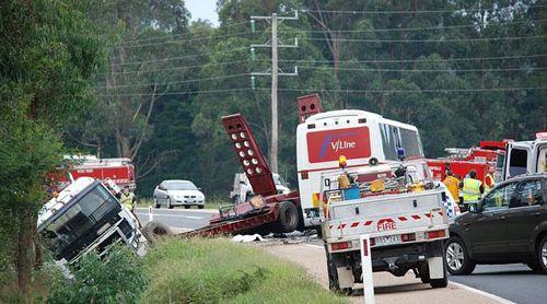Boy dead in Victoria bus crash