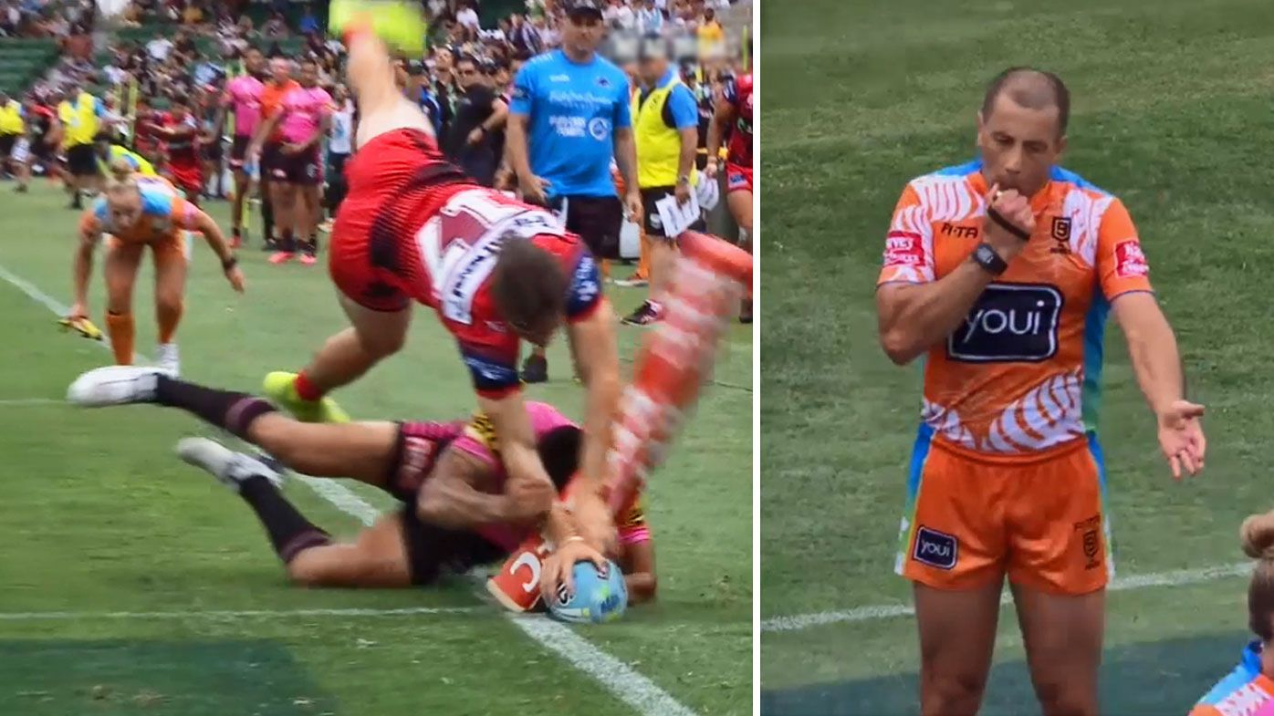 'Very disappointed': NRL admit refs 'got it wrong' in controversial Nines thriller