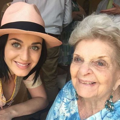 Katy Perry and her grandmother Ann Pearl Hudson.