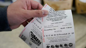 Mega Millions and Powerball lottery tickets.