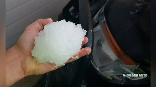 Residents across South Australia woke up to hail. Picture: 9NEWS