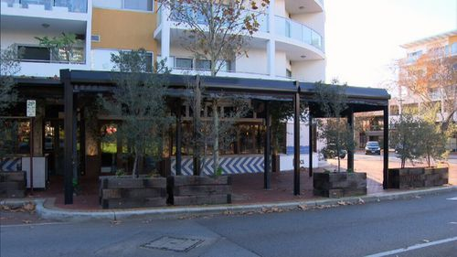 Diners at Brika were hit with capsicum spray last night. Picture: 9NEWS