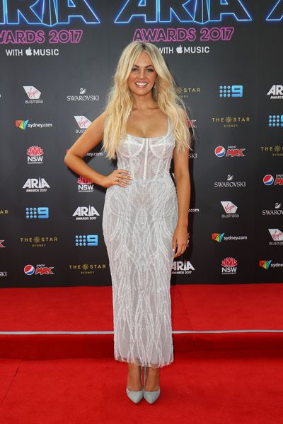 Singer Samantha Jade at the 2017 ARIA Awards