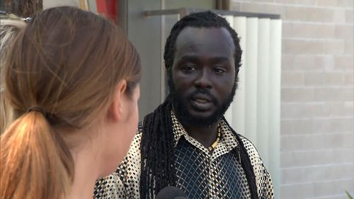 Uber driver Gabriel Long, 35, was allegedly attacked by a group of teenagers last night. (9NEWS)