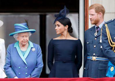 Queen, Harry, Meghan