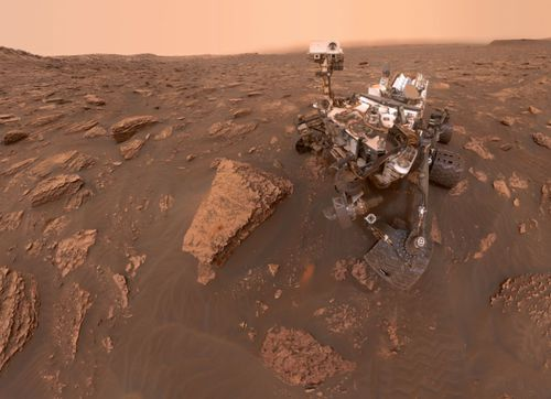 This NASA image shows its Curiosity rover that has been exploring Mars since 2012.