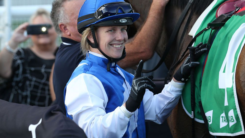 Apprentice Samantha Clenton needs surgery after a race fall at Scone. (AAP)