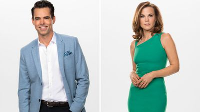 Billy Abbott (Jason Thompson) and Phyllis Summers (Gina Tognoni)