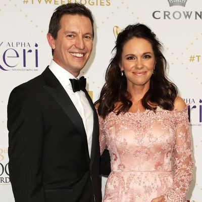 <p>Rove McManus and Tasma Walton</p> <p>Married in 2009. Together for 10 years.</p>
