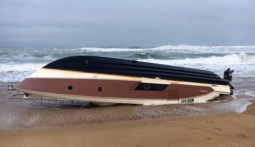 The millionaire's boat was found overturned on a remote French island. (AP)