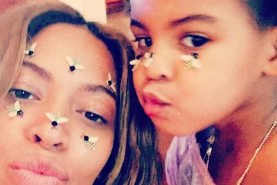 Beyonce and her daughter Blue Ivy