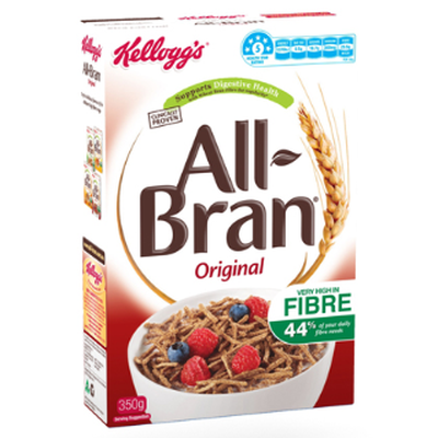 <strong>All-Bran Original (29.5 grams of fibre per 100 grams)</strong>