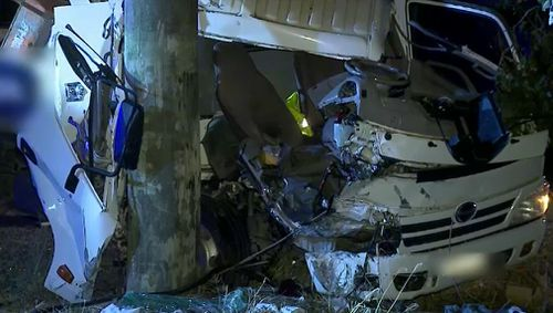 The driver was rushed to Liverpool Hospital in a critical condition.