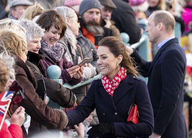 Duke and Duchess of Cambridge in Mumbles.