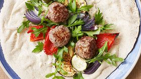Ita Buttrose's meatball and roasted vegetable wrap